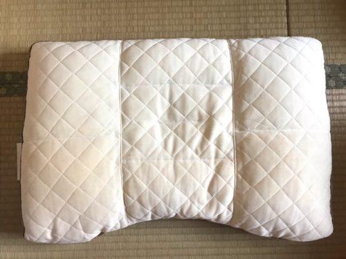 メンテナンス前の枕