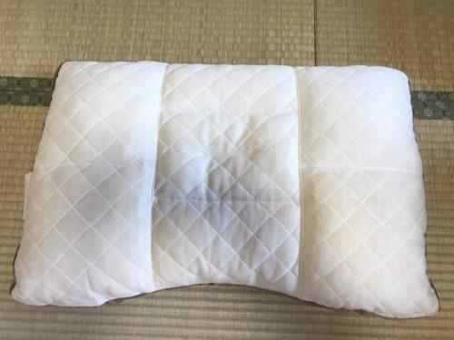 メンテナンス後の枕
