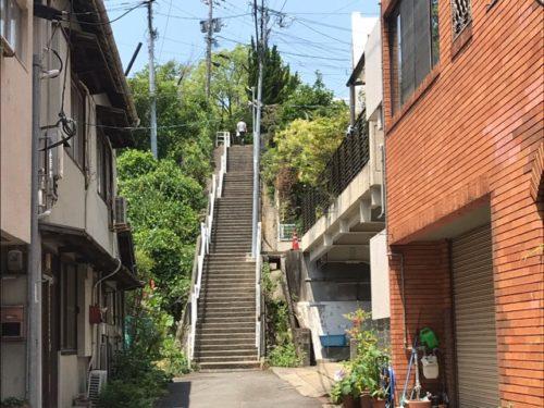 長崎の街中の階段