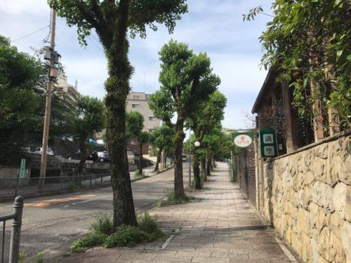 長崎原爆資料館までの坂道