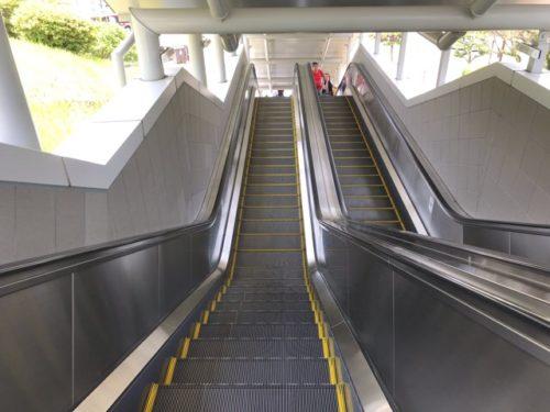 長崎平和公園のエスカレーター