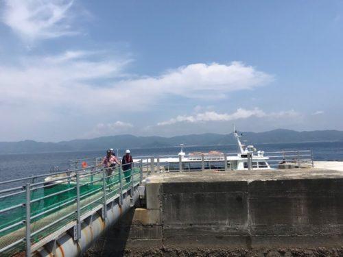 軍艦島の桟橋
