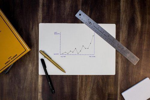 ノートとグラフと定規とペン