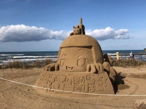 なぎさドライブウェイの砂像