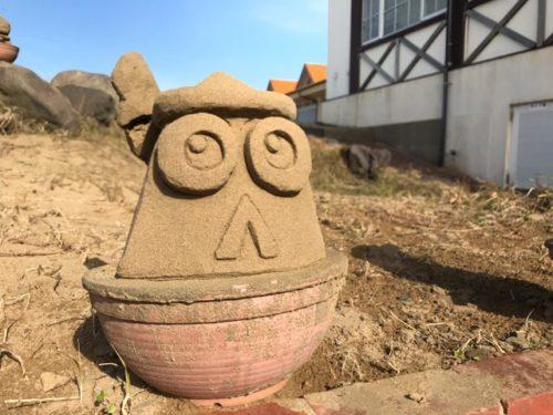 ミニオンの砂像