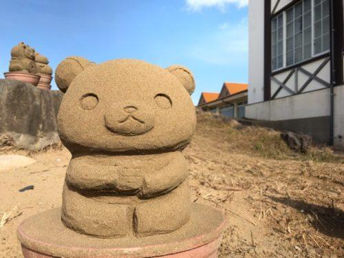 リラックマの砂像