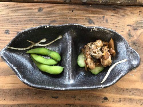 かきの佃煮と枝豆