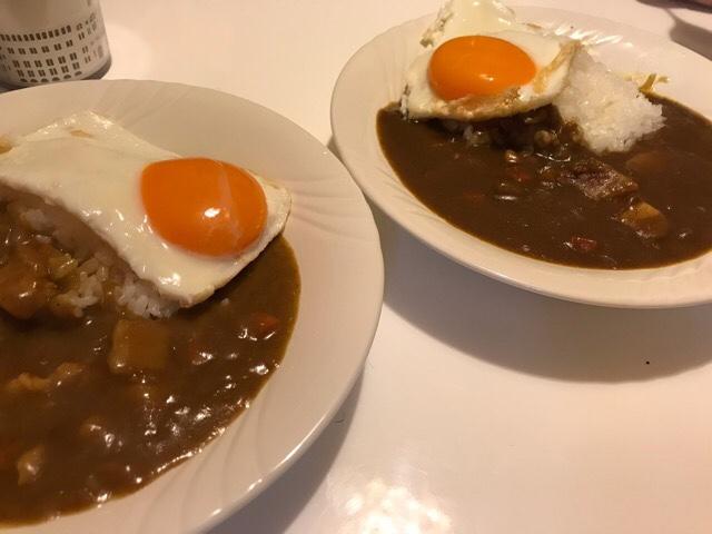三田屋総本家のチキンカレーとポークカレー
